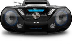 Microsistem audio Philips AZB798T/12, CD, FM, Dab+, USB, AUX, telecomanda, 12W RMS , caseta, Bluetooth