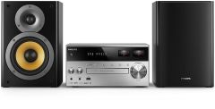 Microsistem audio Philips BTB8000/12, Bluetooth, DAB+, USB, CD/MP3 Player, incarcare USB, AUX, 150 W, Negru/Argintiu