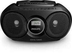 Microsistem Philips AZ215B, CD player,3W, Negru
