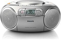 Microsistem Player Philips AZ127/12, tuner FM, AUX, 2x1W
