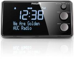 Radio cu ceas Philips AJB3552/12, FM, Dab+, afisaj mare, acord digital, senzor lumina, 1.5W, 220V, Negru