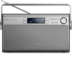 Radio portabil Philips AE5220B/12, FM, Dab+, reglare automata digitala, 5W, LCD, Argintiu