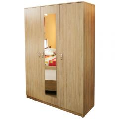 Dulap Soft 3 usi cu oglinda, sonoma, 135 x 200 x 53 cm
