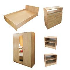 Dormitor Soft Sonoma cu pat pentru saltea 120x200 cm