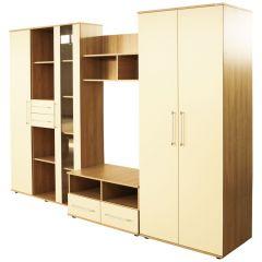 Biblioteca Selena Sonoma/Vanilie, 292 x 200 x 57 cm