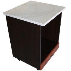 Corp pentru cuptor incorporabil cu sertar Zebra, wenge/MDF Cedru, cu blat Travertin, 60 x 85 x 60 cm
