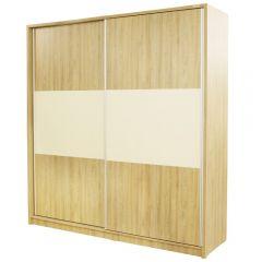 Dulap Milano cu usi culisante, 206 x 220 x 60 cm, Sonoma / Vanilie