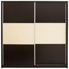 Dulap Milano cu usi culisante, 206 x 220 x 60 cm, Wenge / Vanilie