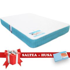 Set Saltea Memory Foam Saltex 140x200 cm + Husa cu elastic