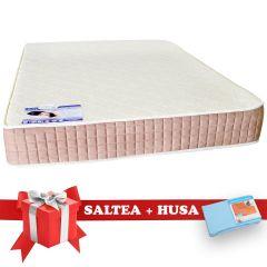 Set Saltea SuperOrtopedica Lux Saltex 160x190 cm + Husa cu elastic