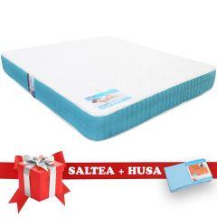 Set Saltea Memory Foam Saltex 160x200 cm + Husa cu elastic