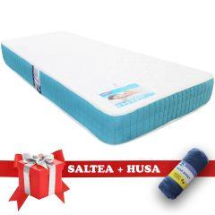 Set Saltea Memory Foam Saltex 90x200 cm + Husa cu elastic