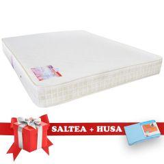 Set Saltea SuperOrtopedica Saltex 160x190 cm + Husa cu elastic