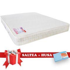 Set Saltea SuperOrtopedica Saltex 140x200 cm + Husa cu elastic
