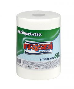 Rola prosop hartie FRISBI Forte, 2 straturi, 60 m, alb, 100% celuloza pura