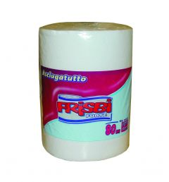 Rola prosop hartie FRISBI Forte, 2 straturi, 80 m, alb, 100% celuloza pura