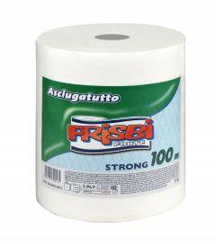 Rola prosop hartie FRISBI Forte, 2 straturi, 100 m, alb, 100% celuloza pura