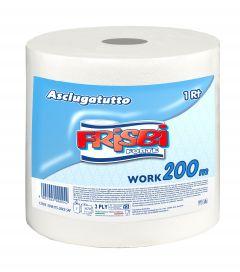 Rola prosop hartie FRISBI Forte, 2 straturi, 200 m, alb, 100% celuloza pura
