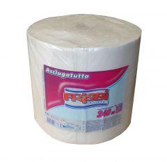 Rola prosop hartie FRISBI Forte, 2 straturi, 240 m, alb, 100% celuloza pura