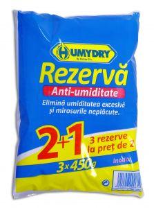 Rezerva absorbant de umiditate Humydry Compact 3 x 450g, Inodor