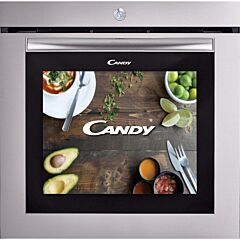 Cuptor incorporabil Candy Watch-Touch, 80 l, ecran 19 inch, retete video, internet&streaming, 70 programe de gatit, mod manual, clasa A, inox antiamprenta