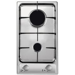Plita incorporabila pe gaz Candy Domino CDG 32/1 SPX, 2 arzatoare, aprindere electrica, inox