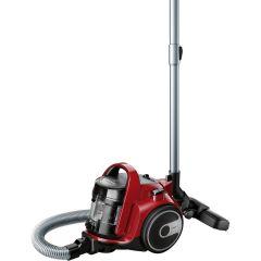 Bosch Aspirator fara sac 3A BGC05AAA2, 700W, 1.5 l, Filtru igienic PureAir, Perie parchet, Easy Clean, Rosu/Negru