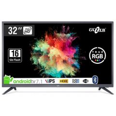 Televizor LED IPS Gazer TV32-FS2G, Smart TV Android Full HD, 80cm