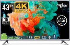 Televizor LED IPS Gazer TV43-US2G, Smart TV Android Ultra HD 4K, 108cm
