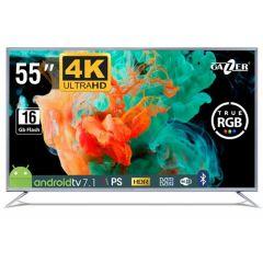 Televizor LED IPS Gazer TV55-US2G, Smart TV Android, 4K Ultra HD, 138cm