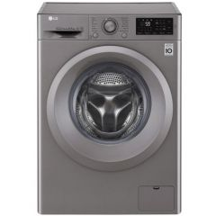 LG Masina de spalat rufe slim F2J5WN7S, Direct Drive, 6.5 kg, 1200 rpm, 45 cm, clasa A+++, argintiu