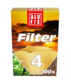 Filtru cafea hartie Alufix Marimea 4 (100 buc)