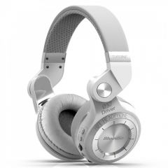Casti Bluetooth Bluedio T2+ Bluetooth 4.1, Wireless, Stereo, microfon incorporat, microSD, Radio FM, Alb