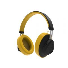 Casti Wireless Bluedio TMS Stereo, Bluetooth, Anularea zgomotului, Microfon, Galben