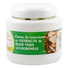 Crema de intretinere cu extracte de aloe si galbenele , 200 grame