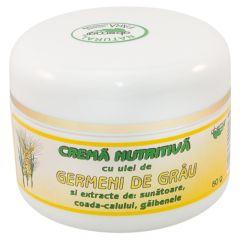 Crema nutritiva - ABEMAR - cu ulei germeni grau si extracte de: sunatoare, coada calului, galbenele. 50 grame