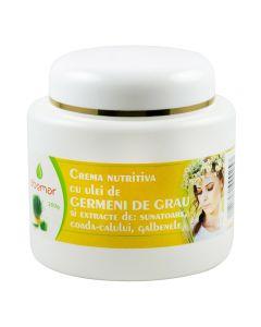 Crema nutritiva cu ulei de germeni grau, extracte de sunatoare, coada calului, galbenele 200 grame
