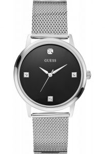 Ceas barbatesc Guess WAFER decorat cu diamante W0280G1