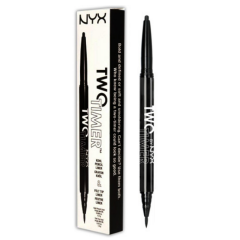 Dermatograf kohl  si tus de ochi rezistent la apa 2 in 1 NYX Two Timer Kohl Pencil & Felt Tip Liner 01 Jet Black