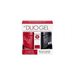 Set lac de unghii gel Bourjois La Laque Duo Gel 05 Are You Reddy