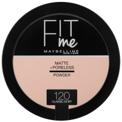 Pudra compacta matifianta care reduce vizibilitatea porilor Maybelline Fit Me Matte + Poreless Pressed Powder 120 Classic Ivory