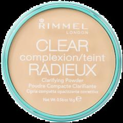 Pudra compacta matifianta ce reduce stralucirea Rimmel Clear Complexion Clarifying Powder 021 Transparent