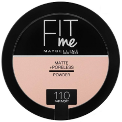 Pudra compacta matifianta care reduce vizibilitatea porilor Maybelline Fit Me Matte + Poreless Pressed Powder 110 Fair Ivory