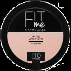 Pudra compacta matifianta care reduce vizibilitatea porilor Maybelline Fit Me Matte + Poreless Pressed Powder 110 Fair Ivory