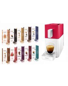 Pachet Promo, Espressor Easy Automat + set 10 cutii capsule cafea, 160 capsule