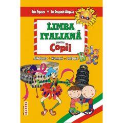 Limba italiana pentru copii - Alfabetul, Numerele, Texte literare