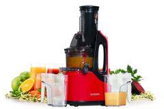 Storcator cu presare la rece Oursson JM7002/RD, functie de auto-curatare, functie reverse, pentru toate tipurile de fructe si legume, putere 240 W, rosu