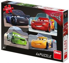 Puzzle Dino - Cars, 4x54 piese (62878)