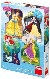 Puzzle Dino - Disney Princess, 4x54 piese (62879)