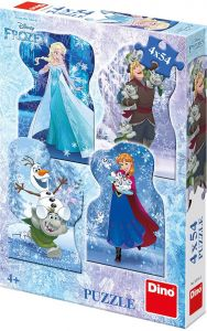 Puzzle Dino - Frozen, 4x54 piese (62880)